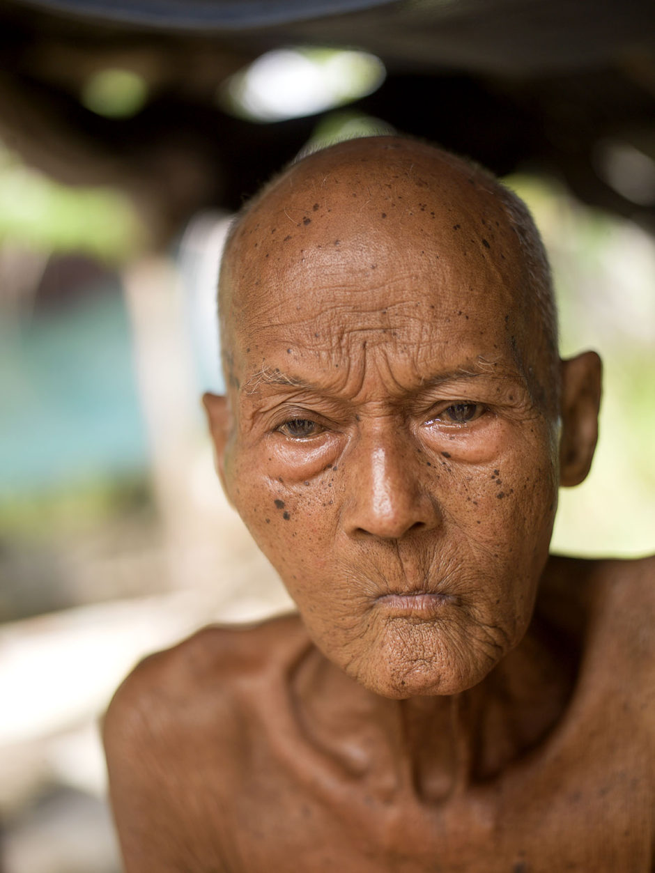 Nou Tab portrait of old man in Cambodia