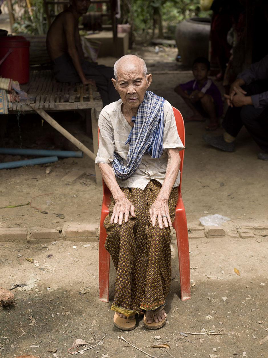 Buo Phan (91) portrait elderly poor