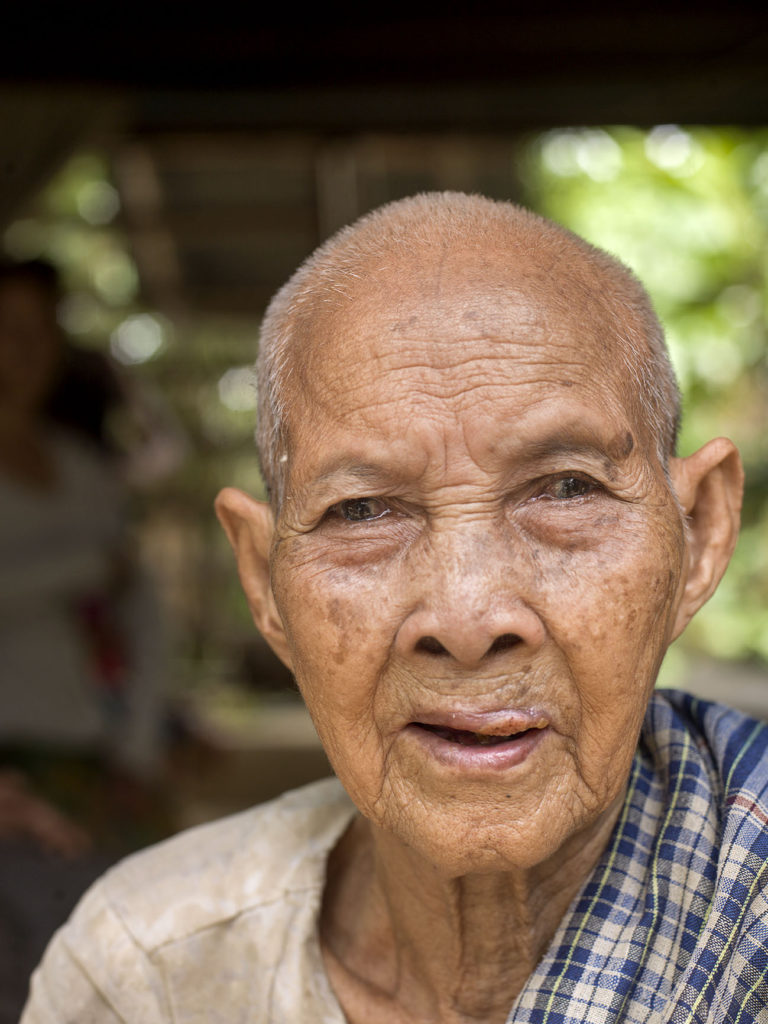 Elderly woman (91) Buo Phan in Cambodia